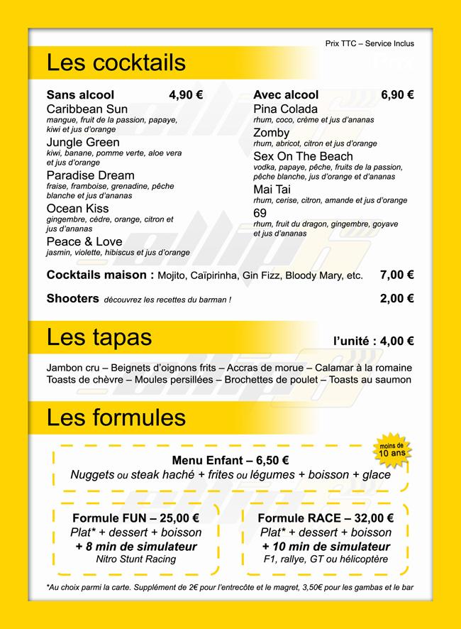 Nouvelle carte pour notre restaurant for Bar belge maison alfort